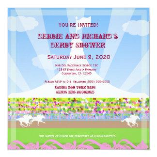 Horse Racetrack Jack & Jill Shower Party - 13 Cm X 13 Cm Square Invitation Card