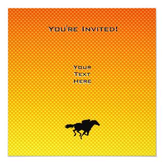 Horse Racing 13 Cm X 13 Cm Square Invitation Card