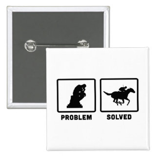 Horse Racing 15 Cm Square Badge