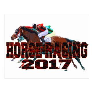 horse racing 2017 postcard