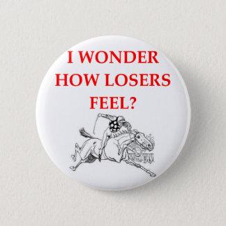 horse racing 6 cm round badge