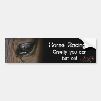 Horse Racing Bumper Sticker