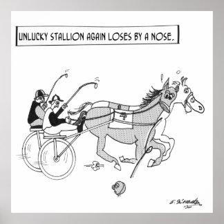 Horse Racing Cartoon 3123 Poster