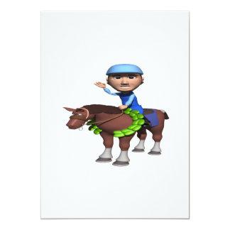 Horse Racing Champion 5x7 Paper Invitation Card