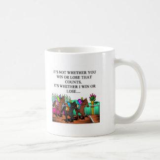 horse racing derby coffee mug