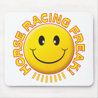 Horse Racing Freak Smile Mouse Pads