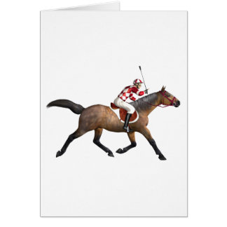 Horse Racing Jockey and Horse Card