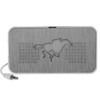 Horse Racing metal-look iPod Speakers