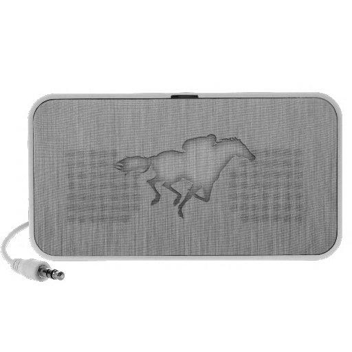Horse Racing; metal-look iPod Speakers