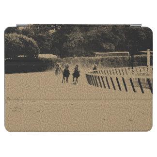 Horse Racing Muddy Track Grunge iPad Air Cover