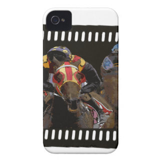 Horse Racing on Film Strip iPhone 4 Cases