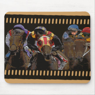 Horse Racing on Film Strip Mouse Pad