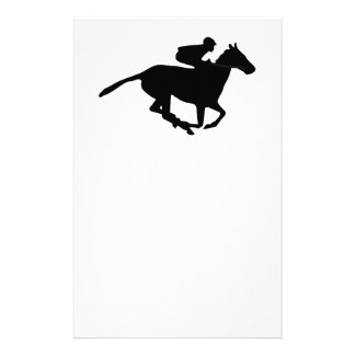 Horse Racing Pictogram Stationery