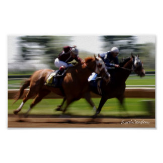 Horse Racing (Poster) Poster