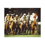 Horse Racing Stretched Canvas Print
