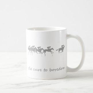 Horse racing, the cure to boredom mug