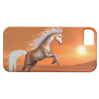 Horse rearing by sunset - 3D render Barely There iPhone 5 Case
