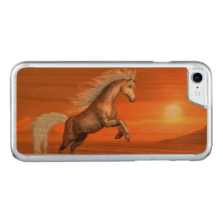 Horse rearing by sunset - 3D render Carved iPhone 8/7 Case