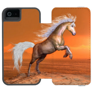 Horse rearing by sunset - 3D render Incipio Watson™ iPhone 5 Wallet Case