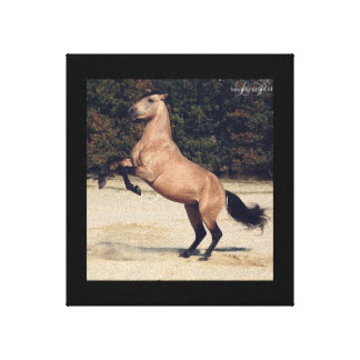 Horse rearing canvas print