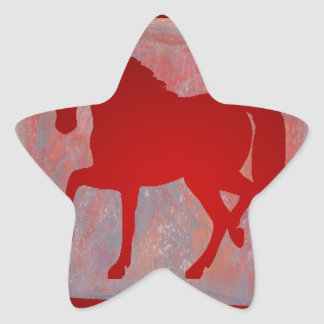 HORSE RED CUSTOMIZABLE PRODUCTS STICKER