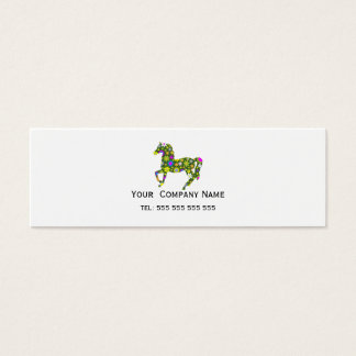 Horse retro floral funky custom business card