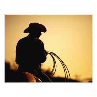 Horse Rider and Rope into the Sunset 21.5 Cm X 28 Cm Flyer