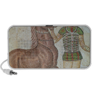 Horse rider in racing colours travel speaker