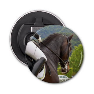 Horse riding bottle opener