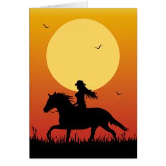 Horse Riding Card