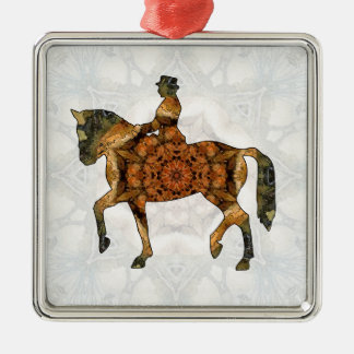 Horse riding - Dressage 03.jpg Metal Ornament