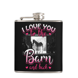 Horse Riding Love and Sport Hip Flask