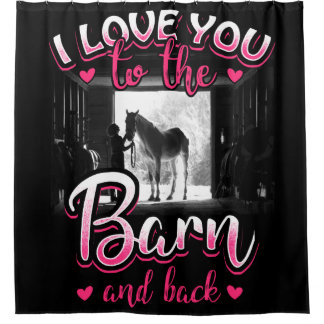 Horse Riding Love and Sport Shower Curtain