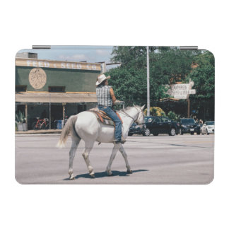 Horse Riding on South Congress Ave iPad Mini Cover