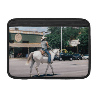 Horse Riding on South Congress Ave MacBook Sleeve