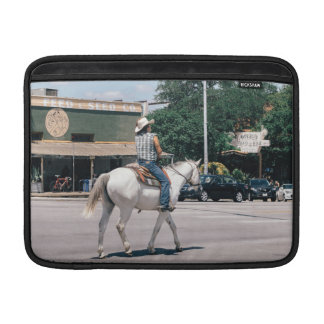 Horse Riding on South Congress Ave Sleeve For MacBook Air