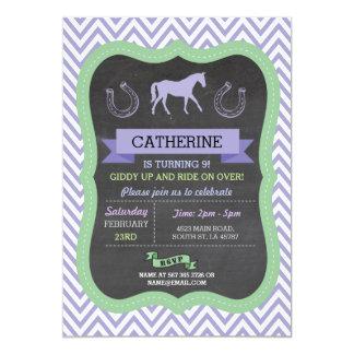 Horse Riding Party Invite Purple Pony Invitation