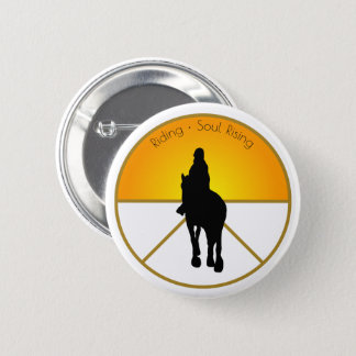 Horse Riding Soul Rising 6 Cm Round Badge