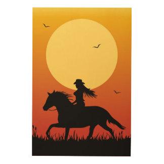 Horse Riding Wood Wall Art