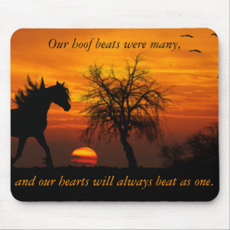 Horse Running Free at Sunset Mouse Pad