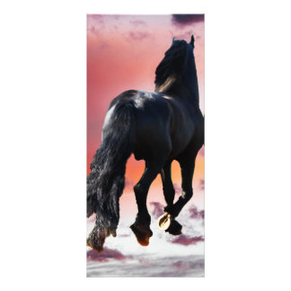 Horse running free customized rack card