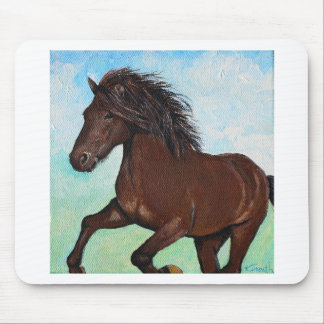 Horse Running Free Mouse Pad