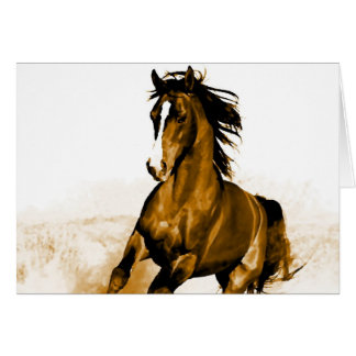 Horse Running Greeting Card