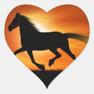 Horse Running Heart Sticker