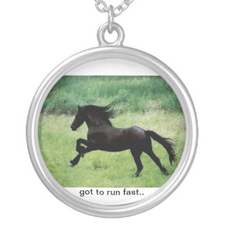 Horse running necklace