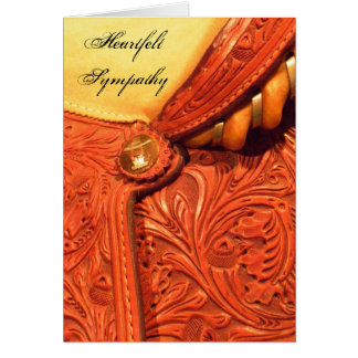 Horse Saddle Sympathy Card