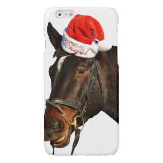 Horse santa - christmas horse - merry christmas