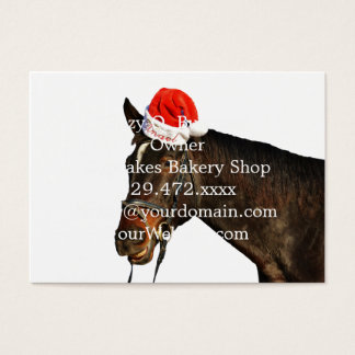 Horse santa - christmas horse - merry christmas business card