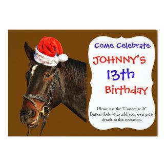 Horse santa - christmas horse - merry christmas card