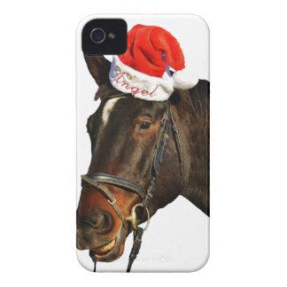 Horse santa - christmas horse - merry christmas Case-Mate iPhone 4 case